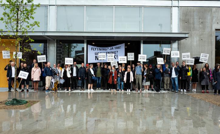 Demonstrationen er ankommet til Exners Plads
