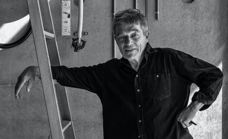 Jens Thomas Aernfred på den nye arkitektskole. Foto: Torben Nielsen