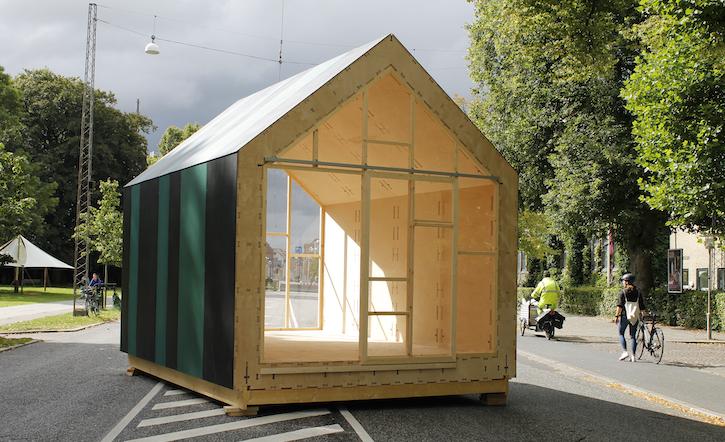 WikiHouse på Frederiks Allé. Foto: Niels Martin Larsen